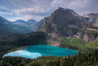 Glacier National Park, Grinnell Lake, Mountain, Lake