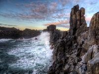Bombo Quarry Sunrise Waves