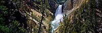 Yellowstone National Park, Grand Canyon of the Yellowstone, Lower Falls, Panorama