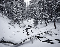Snowy Range, snow, river