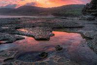 Pretty Beach Sunset Tidal Pool