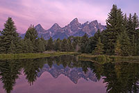 Grand Teton National Park, Swabacher's Landing, Sunrise, Mountain, Reflection