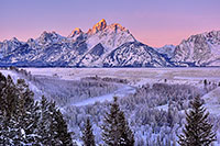 Snake River Overlook, Grand Teton National Park, Mountain, Winter, Sunrise