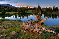 Mountain, Lake, Sunset, Snowy Range