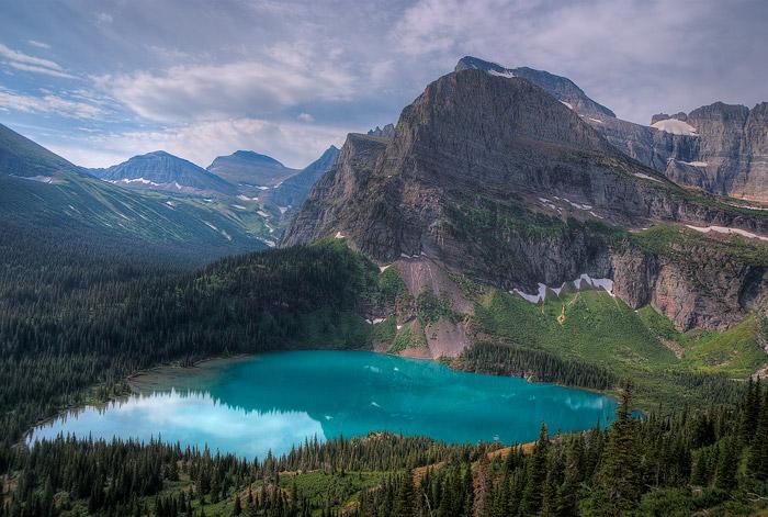 Glacier National Park, Grinnell Lake, Mountain, Lake
