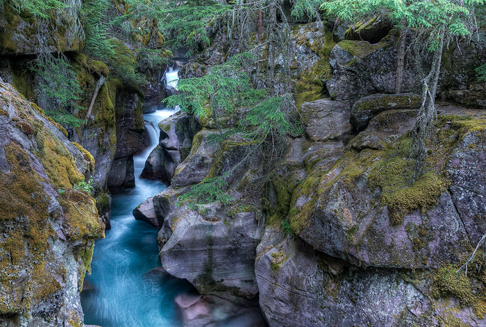 Avalanche Creek, Glacier National Park, Waterfall, photo