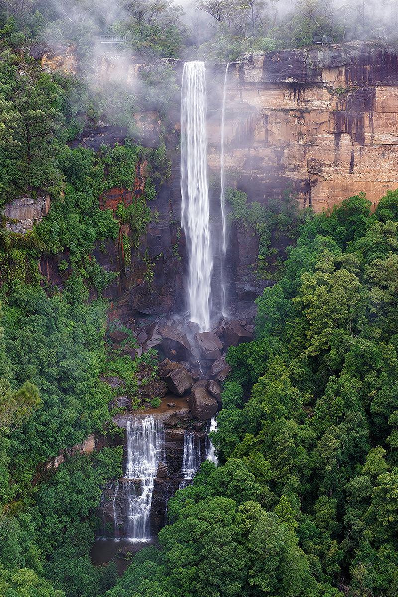 Fitzroy Falls Overlook, Morton National Park, Waterfall, photo