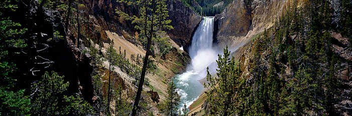 Yellowstone National Park, Grand Canyon of the Yellowstone, Lower Falls, Panorama, photo