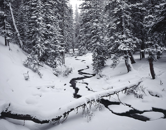 Snowy Range, snow, river, photo