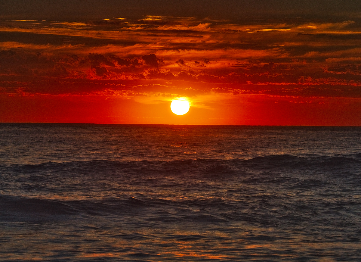fire, sky, ocean, sunrise, Bellambi, beach, wave, NSW, Australia, photo