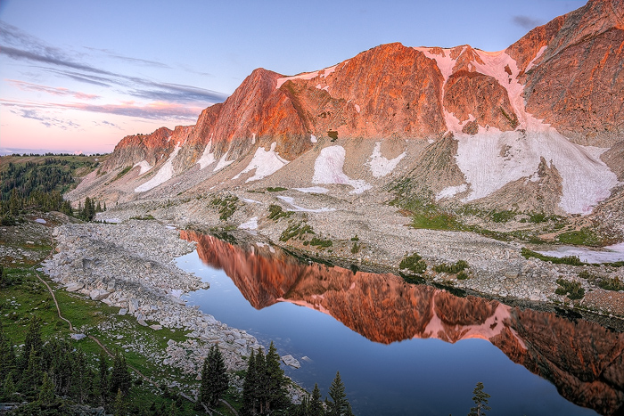 Snowy Range, Mountain, Sunrise, Medicine Bow, photo