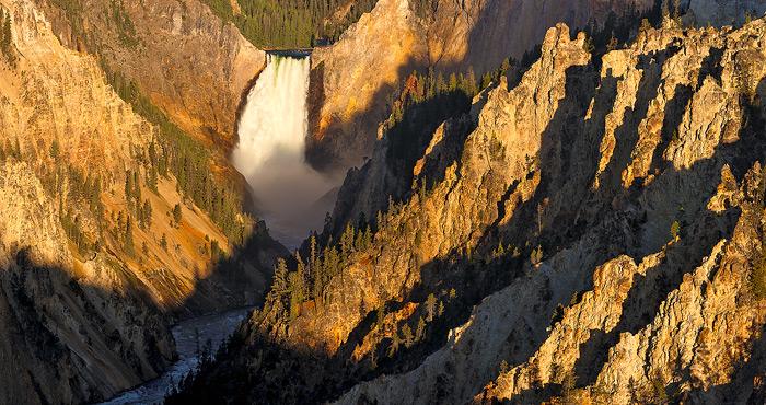 Yellowstone National Park, River, Waterfall, Canyon, photo