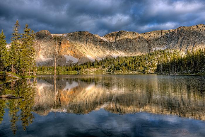 Snowy Range, Mirror Lake, Mountain, photo