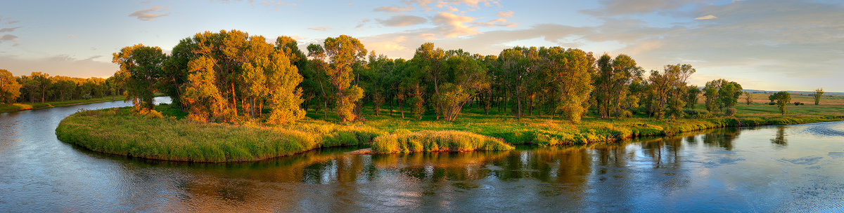 North Platte River, Sunset, Saratoga, photo