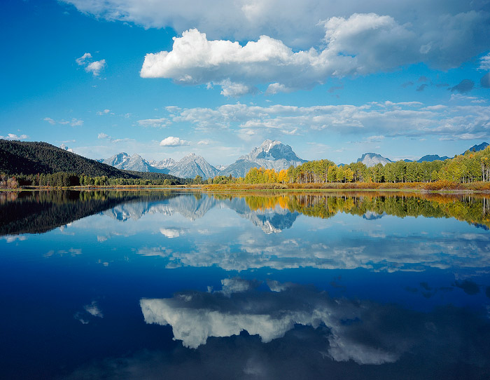 Grand Teton National Park, Oxbow Bend, Reflection, Mountain, Lake, photo