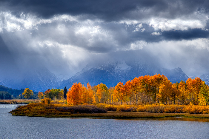 Grand Teton National Park, Snake River, Oxbow Bend, Mount Moran