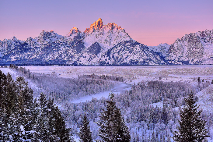 Snake River Overlook, Grand Teton National Park, Mountain, Winter, Sunrise, photo
