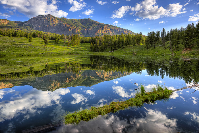 Yellowstone National Park, Lake, Mountain, Reflection, photo